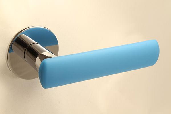 HK-HELAT sisäoven painike 04 kromi sinisellä kuorella